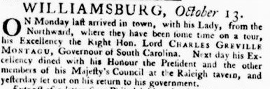 Virginia Gazette: With the Latest Advices, Foreign and Domestick- Oct. 13th, 1768