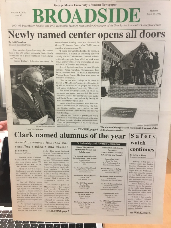 Front Page of Broadside Newspaper