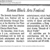 Reston Black Focus Art Festival