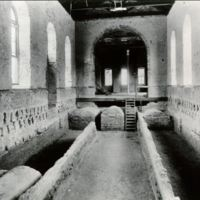 Photo of Wren Chapel basement, College of William and Mary, showing burial tombs of the Randolphs