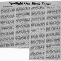 Spotlight On Black Focus