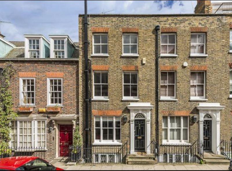 Georgian period homes on Yeoman's Row, Knightsbridge, 1 block from Randolph's home on Brompton Row.