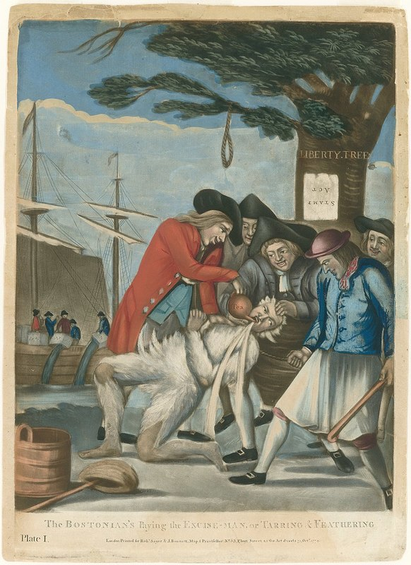 The Bostonians Paying the Excise-man, or Tarring and Feathering (1774)